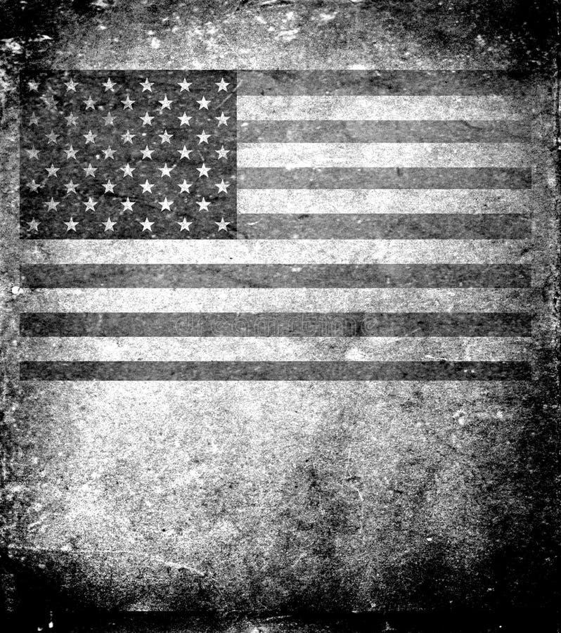 Old USA flag royalty free illustration