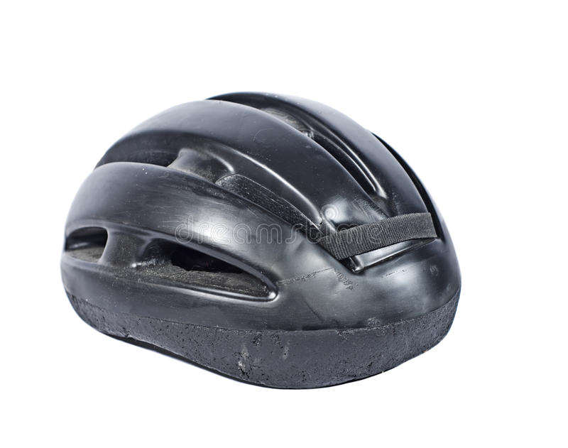 Old Used Bicycle Helmet royalty free stock photography