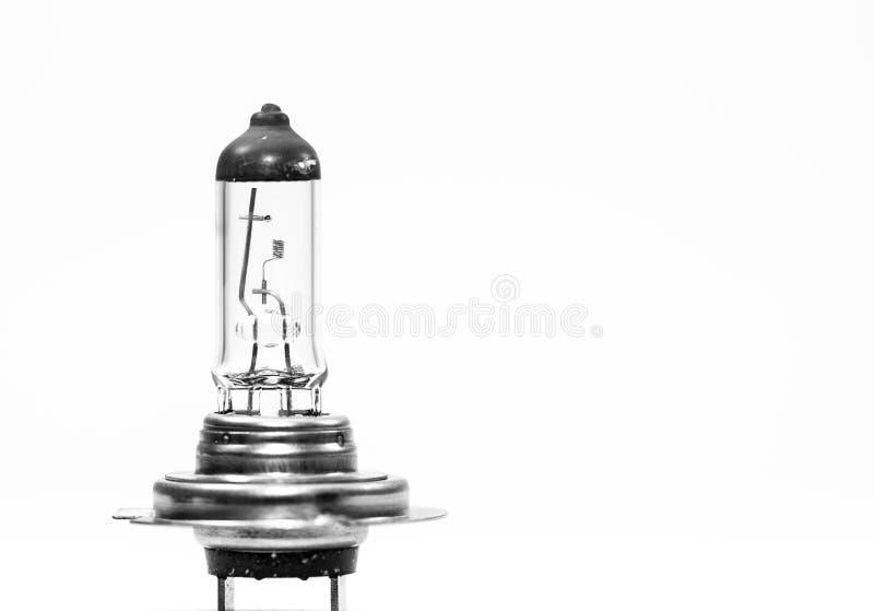 Old, used, broken car headlight bulb close up macro shot royalty free stock photography