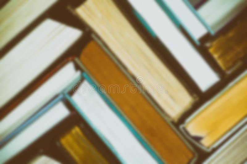 Old and used hardcover books. Stack of books background. many books piles. Old books and textbooks in hardcover. view from the top. Education concept. Close up stock photos