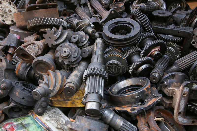 Hq Old Machinery Parts : Old and used machinery parts stock image of round