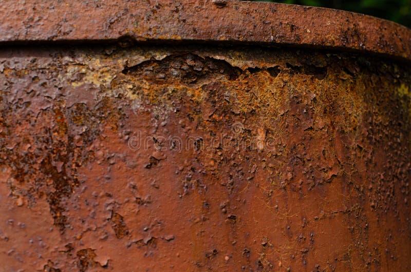 Old rusty barrel stock image