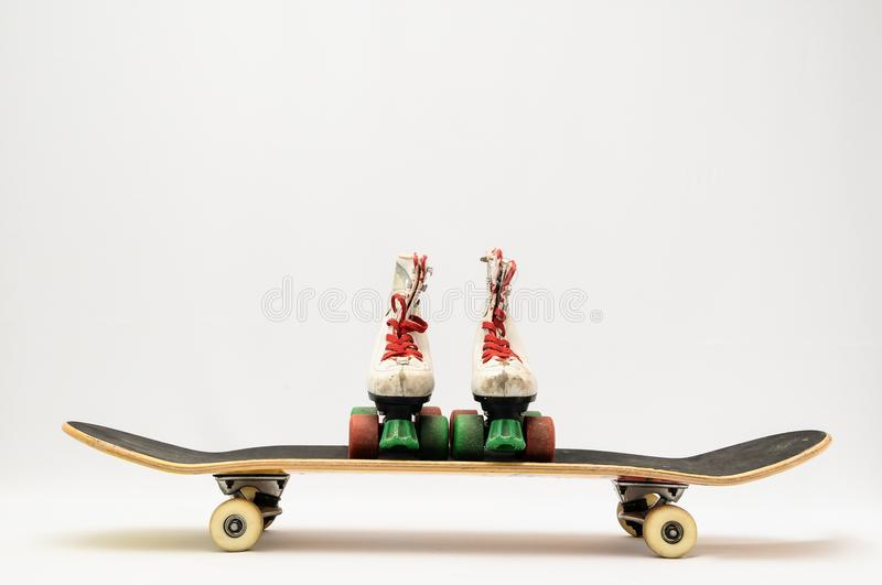 Old Used Wooden Skateboard stock photo. Image of frame - 111295508