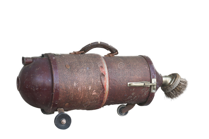 Old vacuum cleaner royalty free stock photo