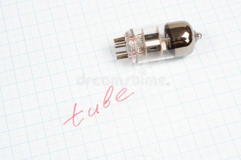 download old vacuum tube electron tube on graph paper stock photo image of equipment