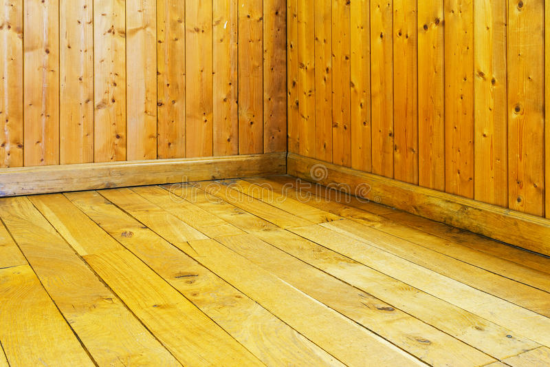 Old Varnished Wooden Floor And Wall Of Room Stock Photo Image Of