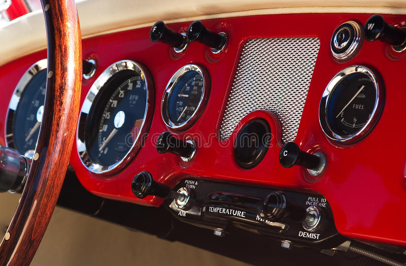 Old vehicle dashboard royalty free stock photo