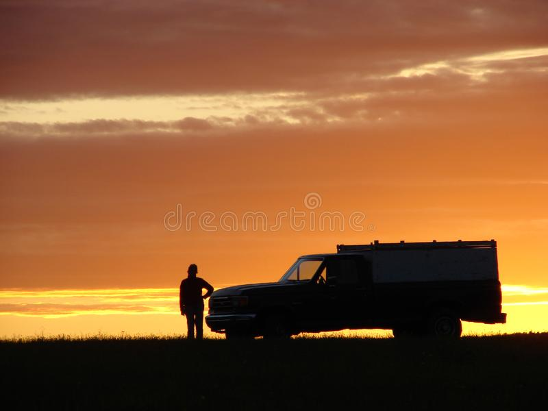 Download Old vehicle at sunset stock photo. Image of breakdown - 5441796