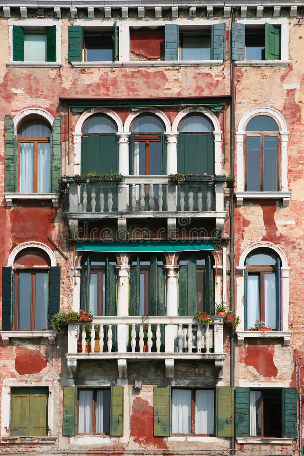 old venice facade stock images