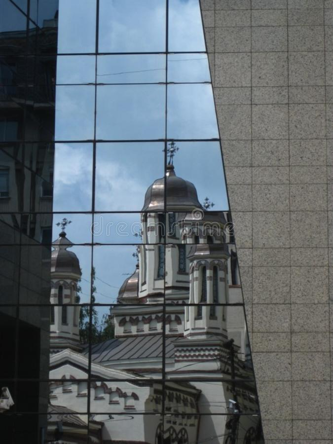 old-versus-new-buildings stock photo