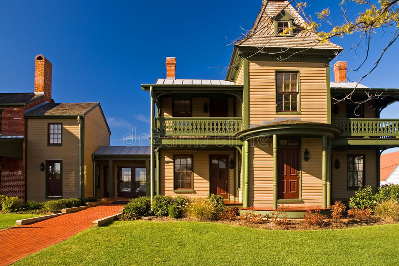 Download Old Victorian Era House With Addition Stock Image - Image: 1340463