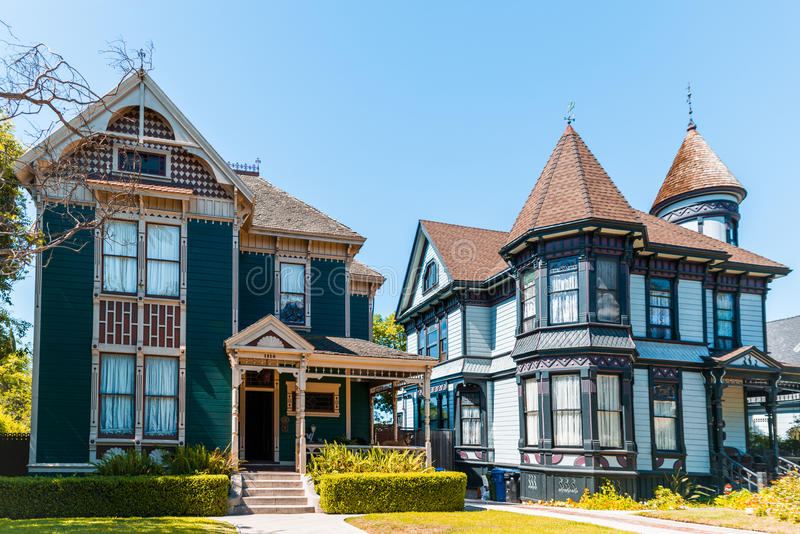 Old Victorian Houses royalty free stock photo