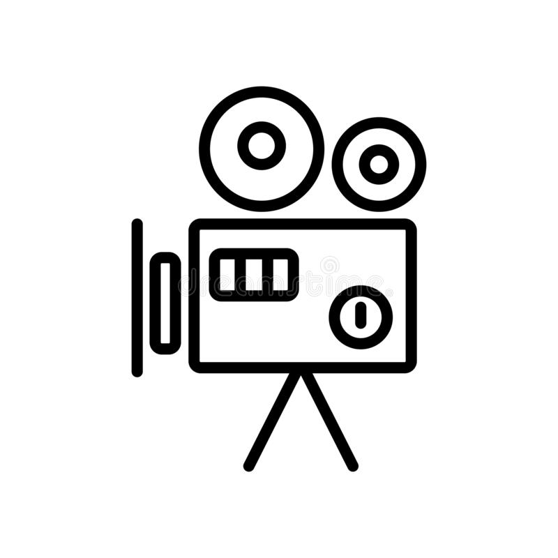 Old Video Camera icon vector isolated on white background, Old V vector illustration