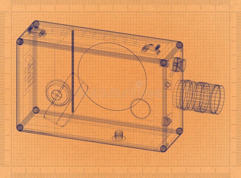 Old video camera retro blueprint stock illustration illustration download old video camera retro blueprint stock illustration illustration of movie blueprint malvernweather Gallery