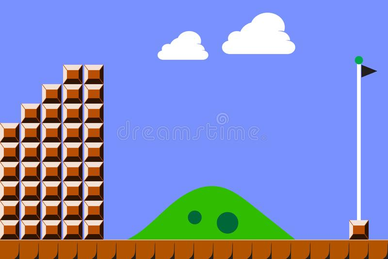 Old video game background. Vector illustration eps10 stock illustration