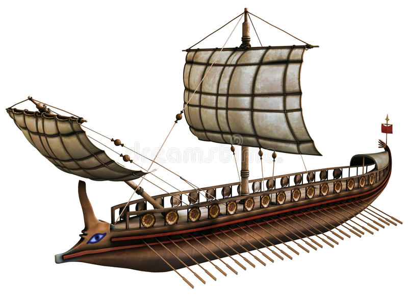 Old viking boat stock illustration