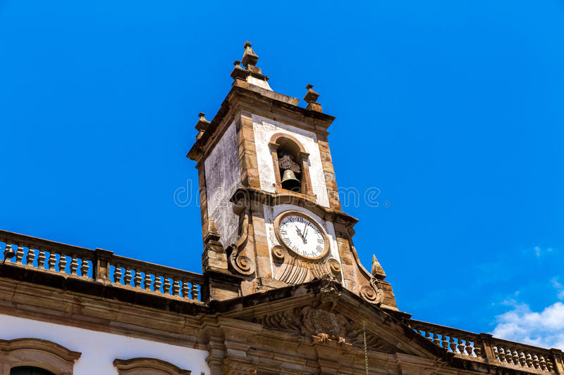 The old Vila Rica Jail in Ouro Preto, Brazil stock photography