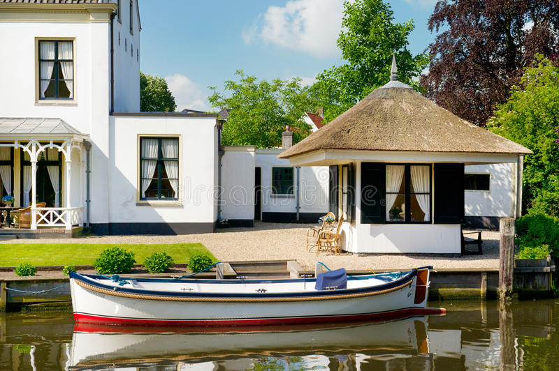 Old Villa in Holland stock image