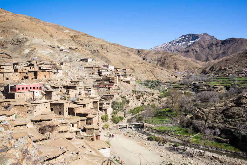 Old village in the Atlas Mountains stock images