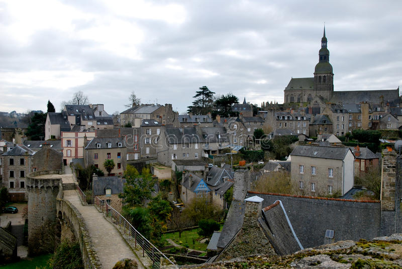 Download The old village of Dinan stock photo. Image of bretagne - 18543530