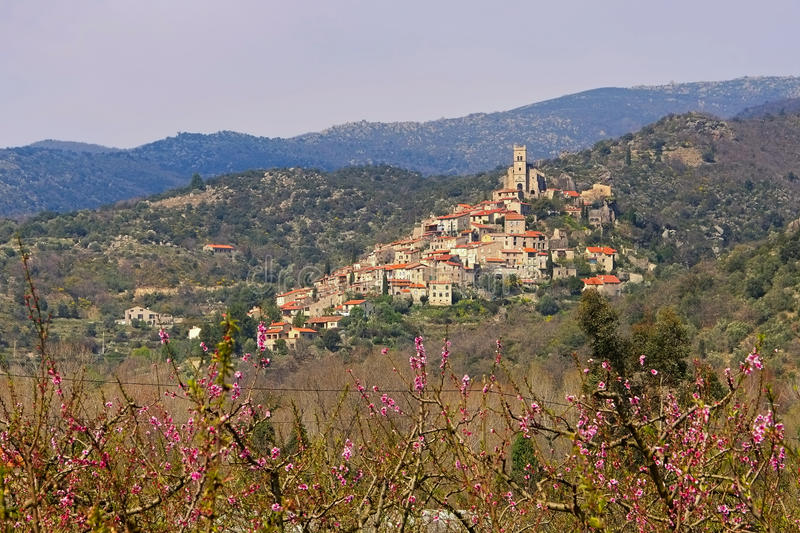 Old village Eus in France royalty free stock images