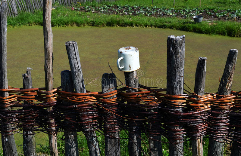 Old Village Fence stock photography