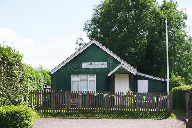 Old Village Hall stock photo