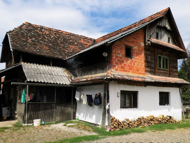 An old village house royalty free stock photo
