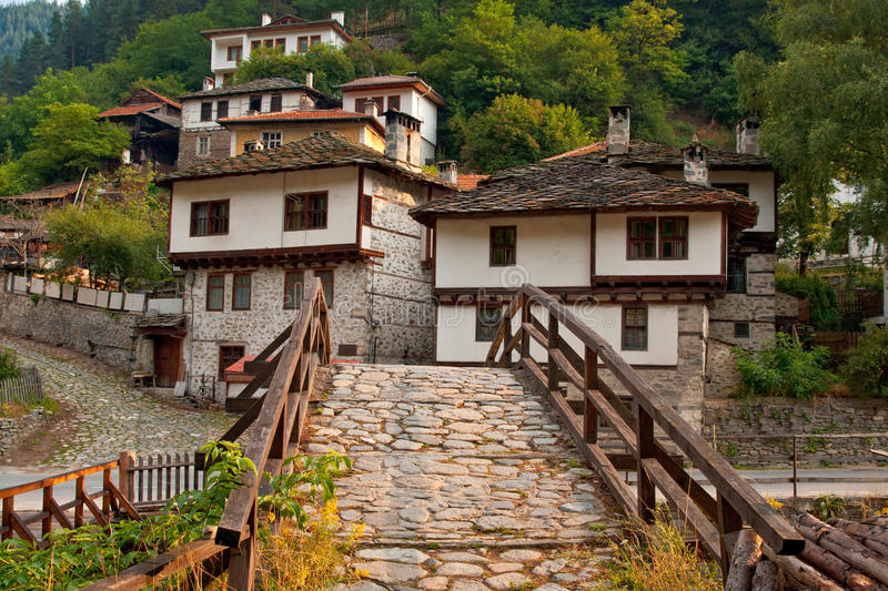 Old village houses royalty free stock images