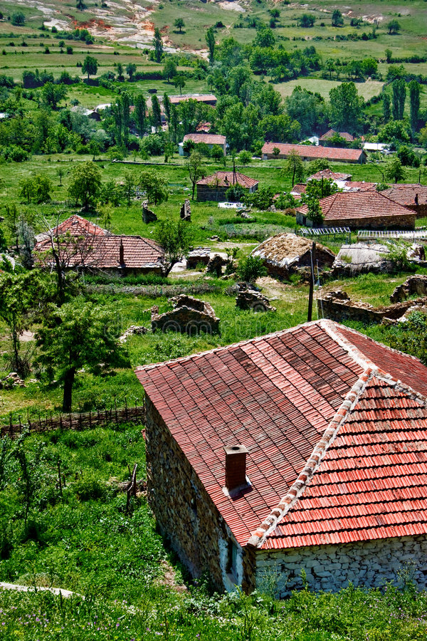 Old village in Macedona stock photography