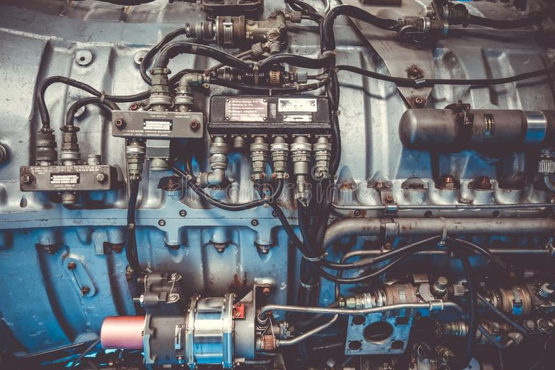 Old vintage airplane engine royalty free stock photography