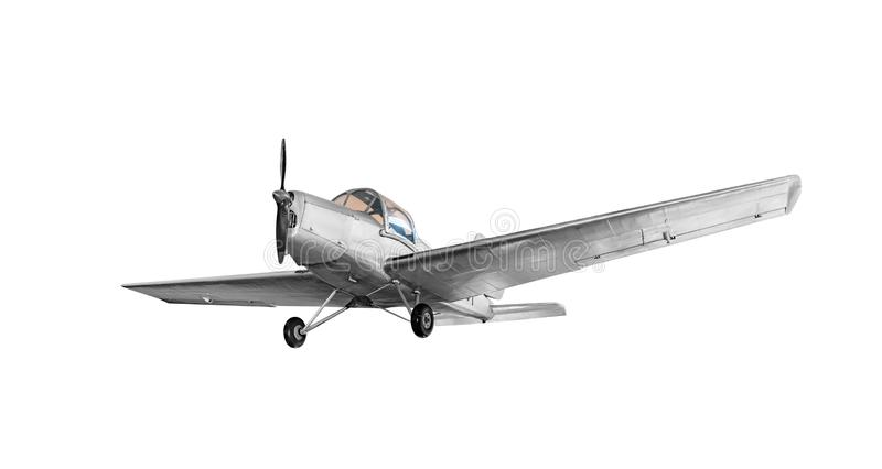 Old vintage airplane. royalty free stock photo