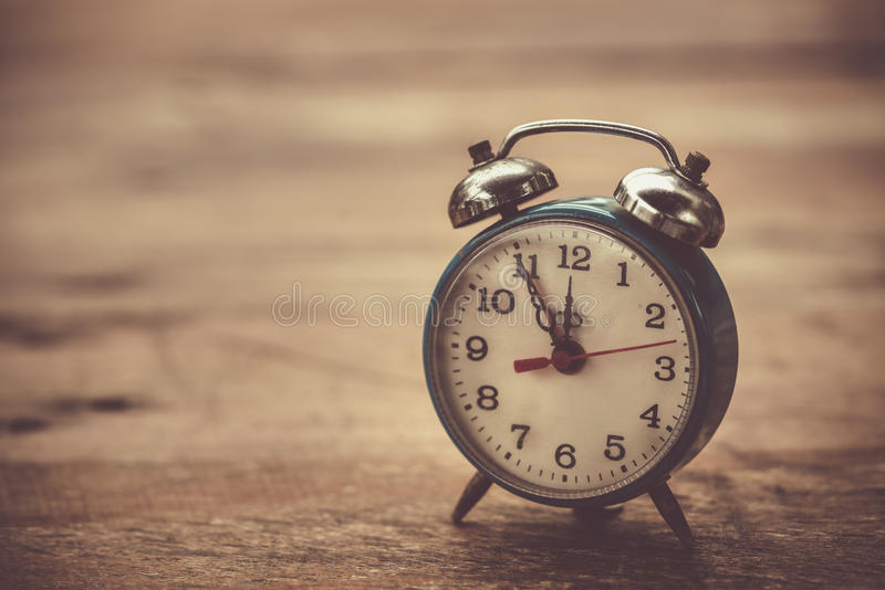 Old vintage alarm clock royalty free stock photo