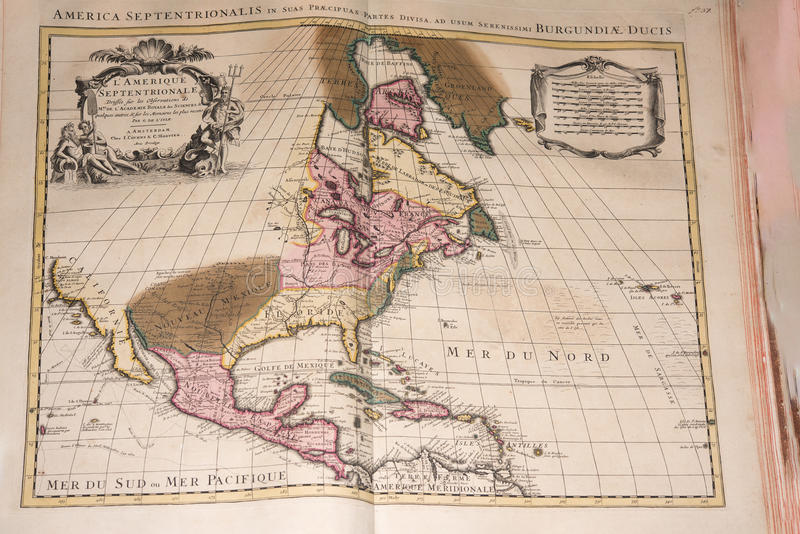 Old vintage antique earth globe map. Detail royalty free stock images