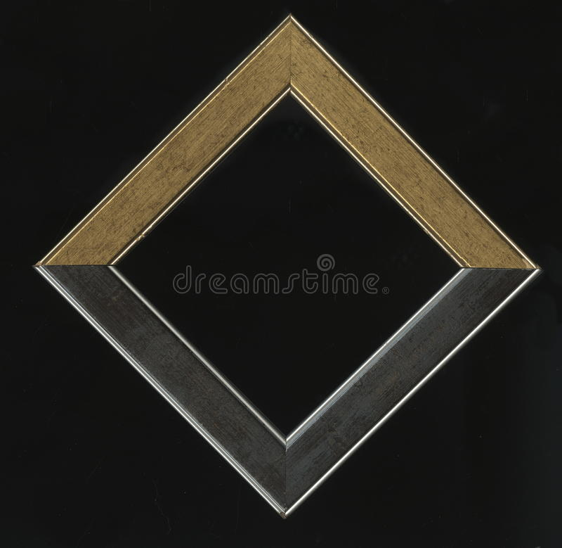 Old, vintage, antique frame isolated on black background royalty free stock photo