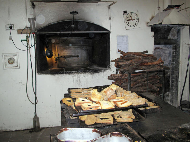 A Still In Use Old 1920s Scottish Baking Oven With Stacked Pile Of Cut Local Native Australian Mallee Hardwood The Dried Bread Was Used To Feed Birds