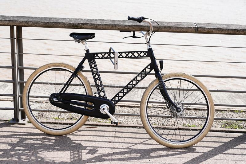Old vintage bicycle style modern and fashion bike cycle royalty free stock photo
