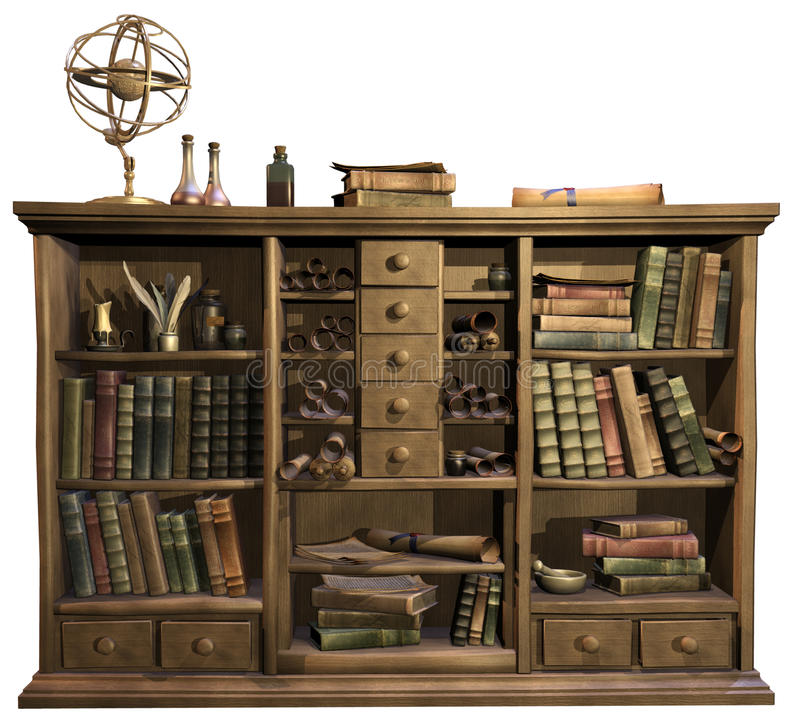 Free Old Vintage Book Case Royalty Free Stock Image - 24573586
