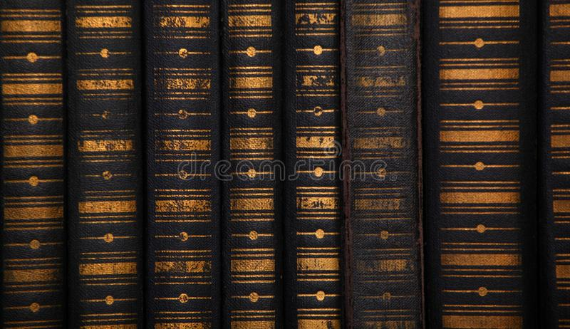 Old vintage books background stock photos