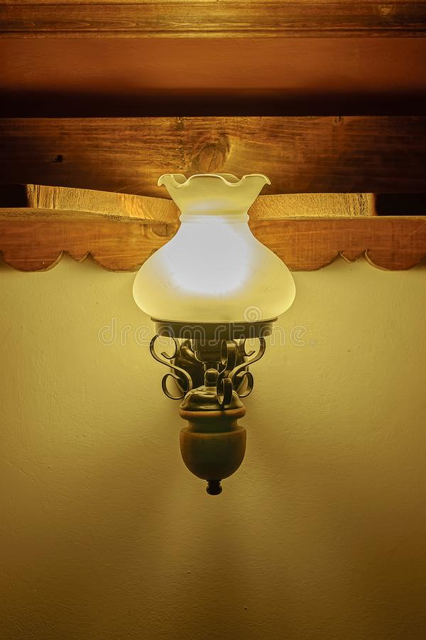 Old vintage lamp in the house 2 stock image