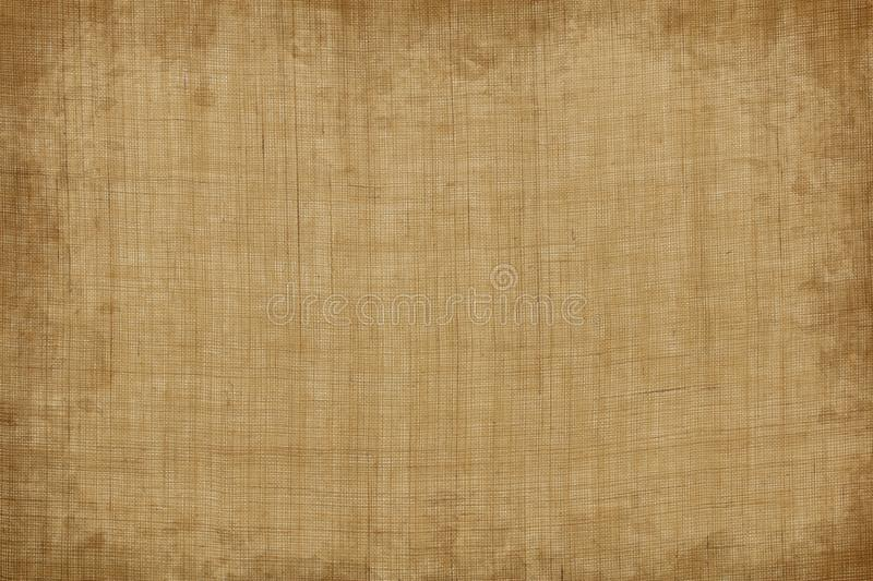 Old vintage brown linen texture or hemp cloth background. Old vintage brown linen texture or grunge hemp cloth background stock images