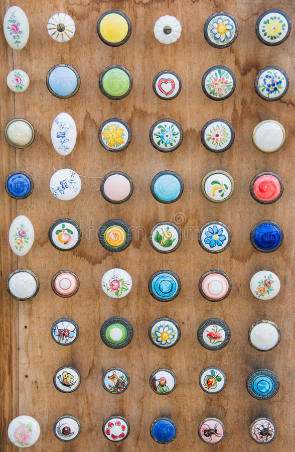 Old vintage buttons royalty free stock image