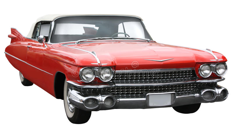 Old vintage Cadillac stock image