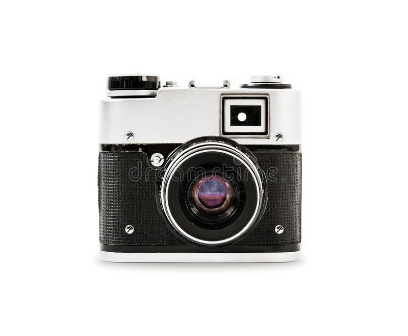 Old vintage camera. Square styling for the application icon stock images