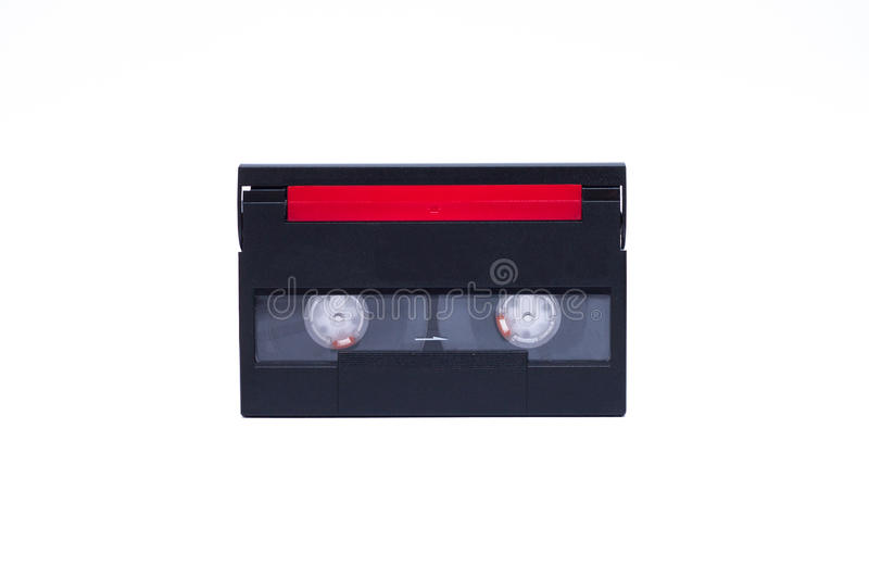 Download Old Video Camera Cassette Digital, Black With Red Tape Cover Stock Photo - Image of cinema, cassette: 30008562