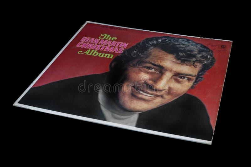 Old Vintage Dean Martin Christmas Album royalty free stock photo