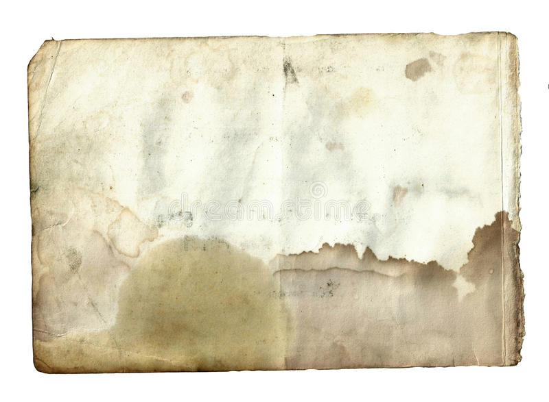 Torn Paper Book Cover : Old vintage dirty torn blank page book on a white stock