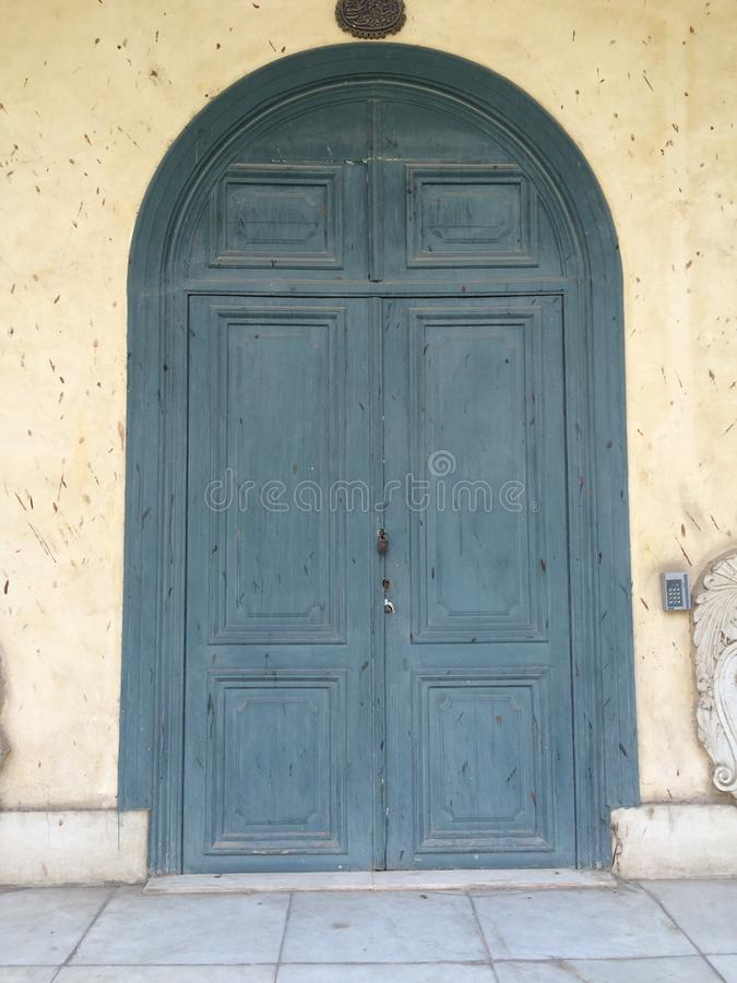 Old vintage door in Manial Palace. In cairo Egypt royalty free stock photo