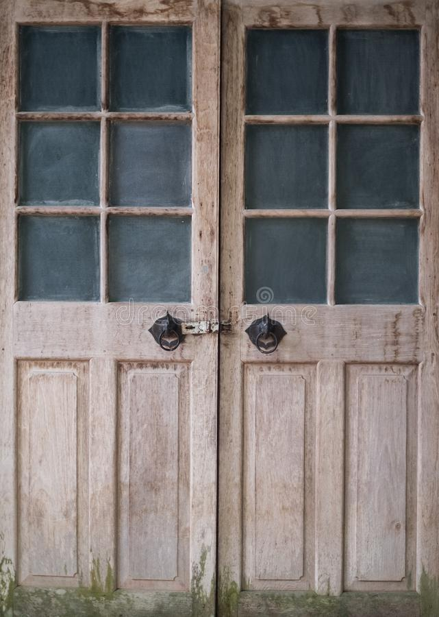 Old vintage doors wooden texture background I royalty free stock photo