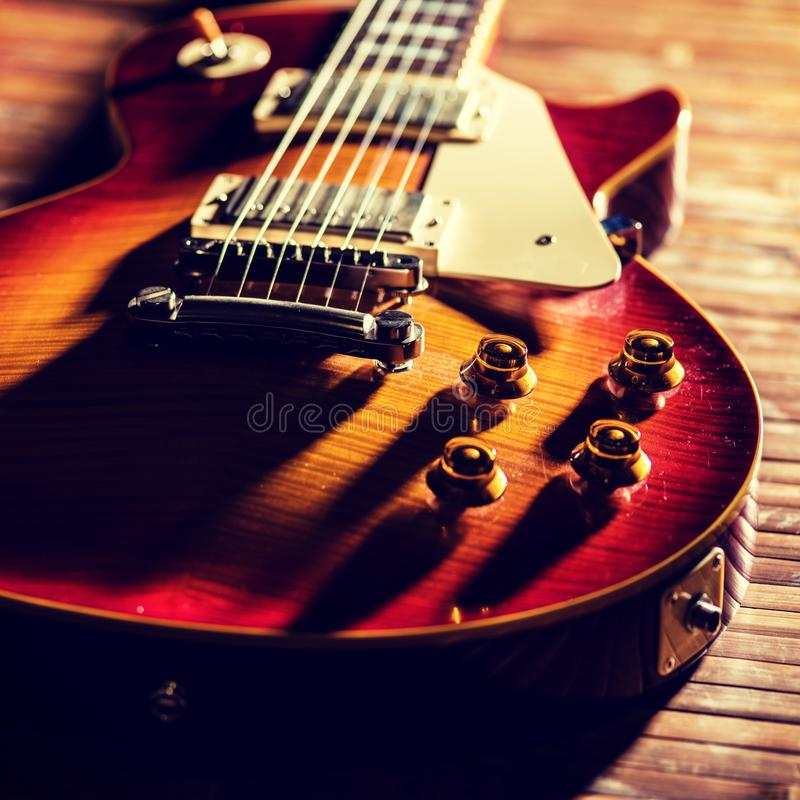 Old Vintage electric guitar body royalty free stock photos